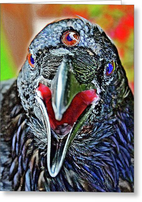 Three-eyed Raven. Game Of Thrones. Greeting Card by Andy Za