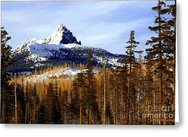 Three Fingered Jack Greeting Card by Steve Warnstaff