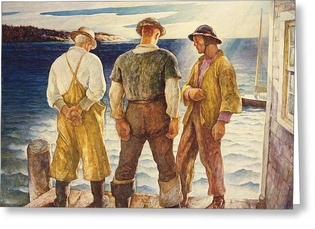 Three Fishermen Greeting Card