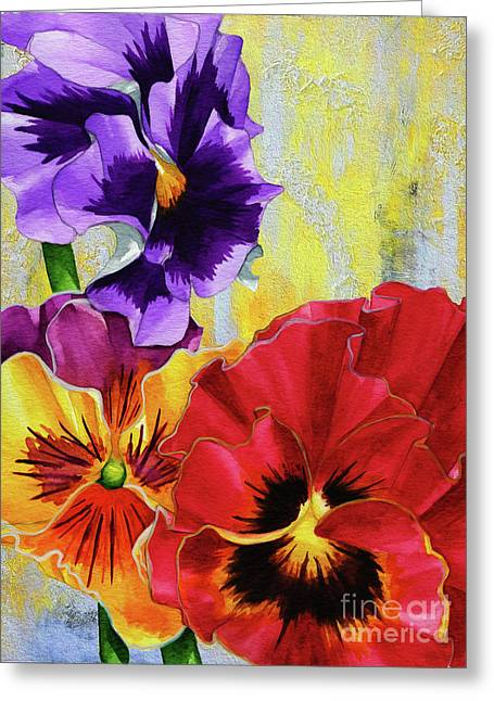 Three Flowers1 Greeting Card