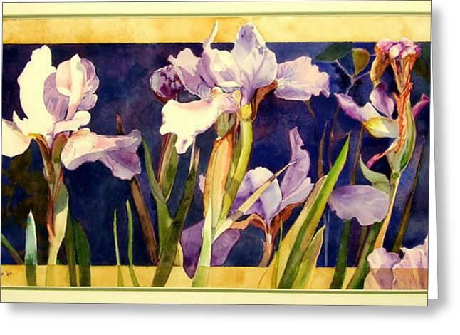 Three Gossips Greeting Card by Linda  Marie Carroll