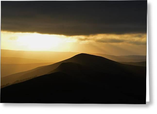 Three Hills Greeting Card by Sebastian Mendocha