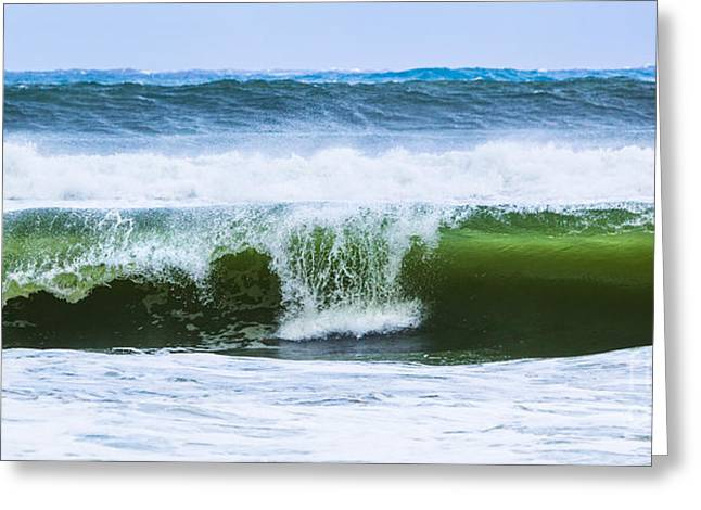 Greeting Card featuring the photograph Three In A Row by Michelle Wiarda