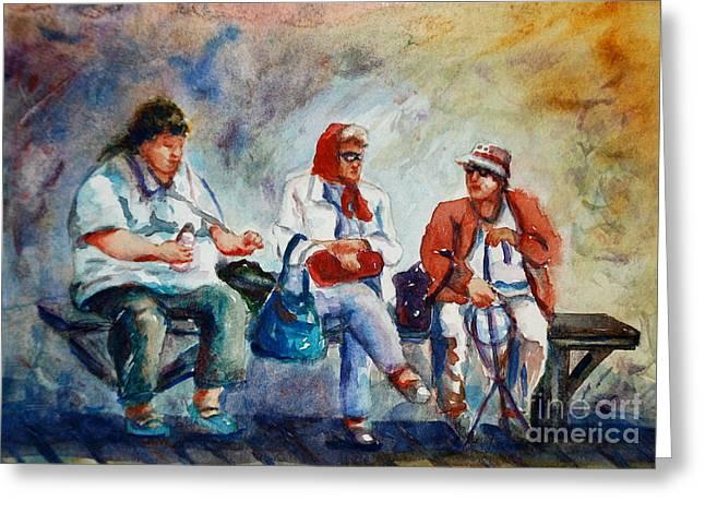 Three In San Diego Greeting Card by Joyce A Guariglia