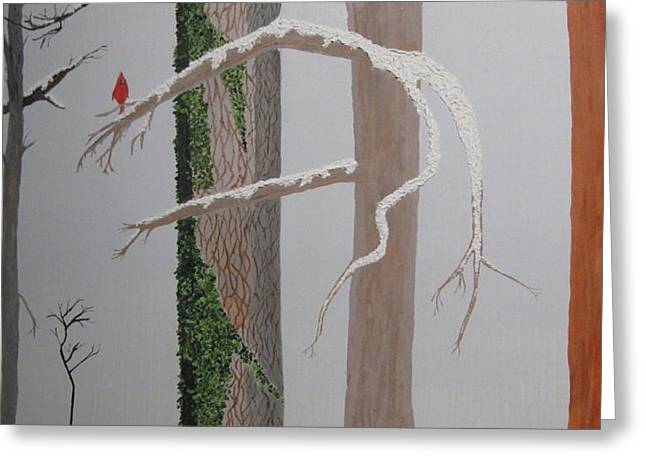 Three In The Trees Greeting Card