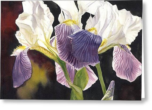 Three Irises Greeting Card