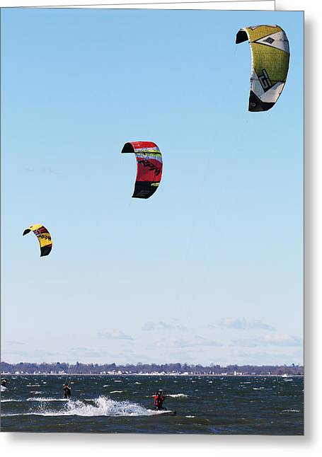 Three Kites Greeting Card