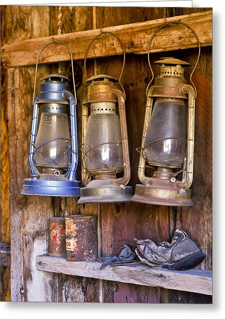 Three Lanterns And A Shoe Greeting Card