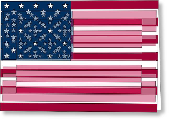 Three Layered Flag Greeting Card