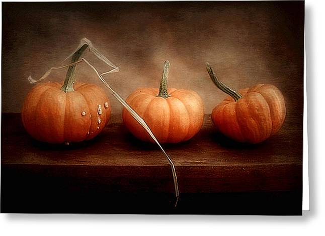 Three Little Pumpkins Greeting Card