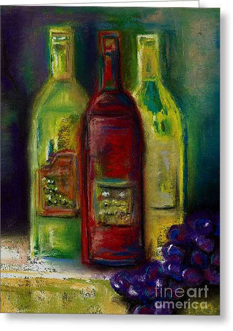 Three More Bottles Of Wine Greeting Card by Frances Marino