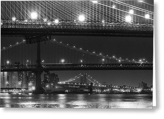 Three New York Bridges 2 Greeting Card