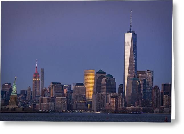 Three New York Symbols Greeting Card