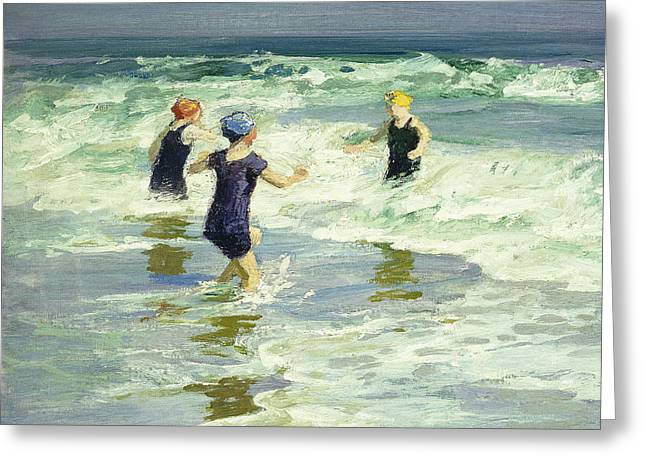 Three Of A Kind Greeting Card by Edward Henry Potthast