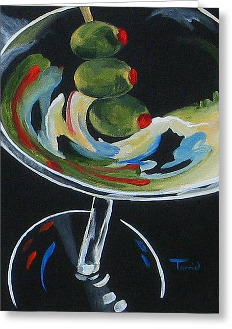 Three Olive Martini V  Greeting Card by Torrie Smiley