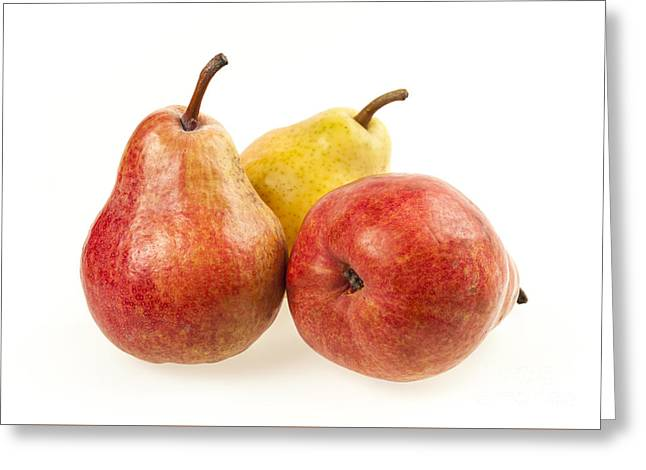 Three Pears Greeting Card