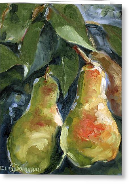 Three Pears Greeting Card