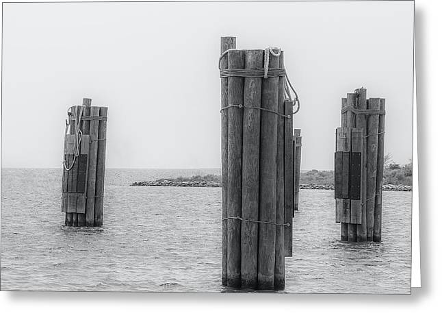 Three Pillars Greeting Card