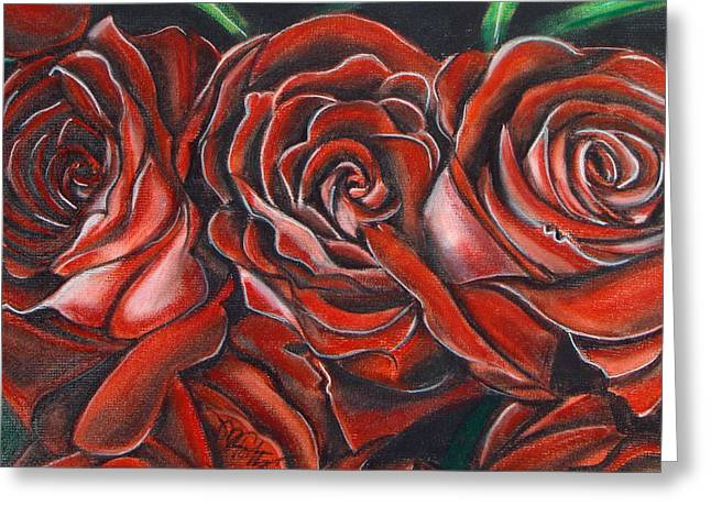 Three Rose Greeting Card