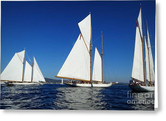 Three Schooners Greeting Card