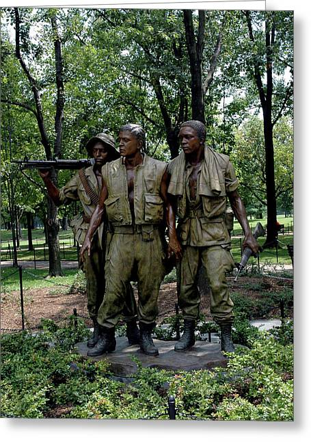 Three Servicemen Greeting Card