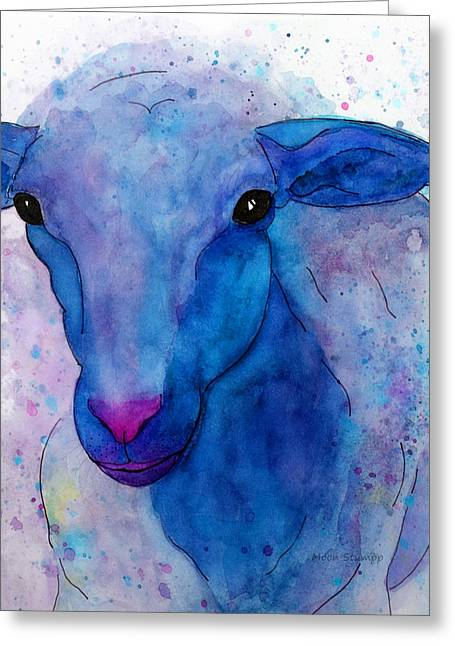Three Sheep, 1 Of 3 Greeting Card by Moon Stumpp