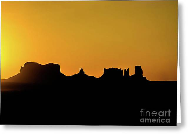 Three Sisters Backlight Greeting Card