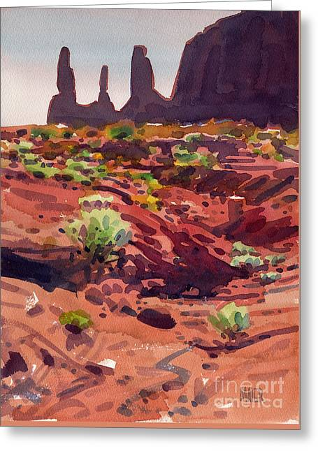 Three Sisters Greeting Card by Donald Maier
