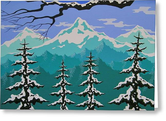 Three Sisters Greeting Card by Larissa Holt