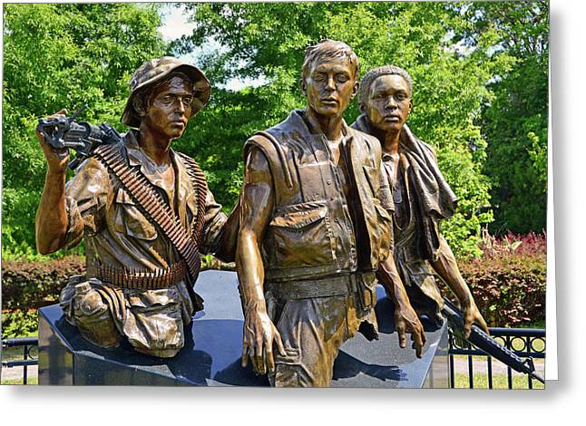 Three Soldiers Monument Greeting Card