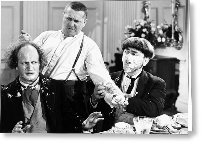 Three Stooges: Film Still Greeting Card