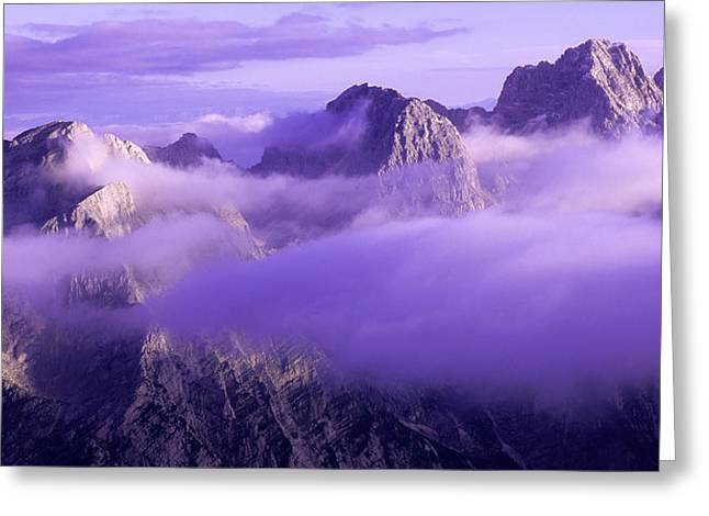 Three Summits. Julian Alps Greeting Card