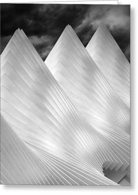 Three Summits Greeting Card by Michiel Hageman