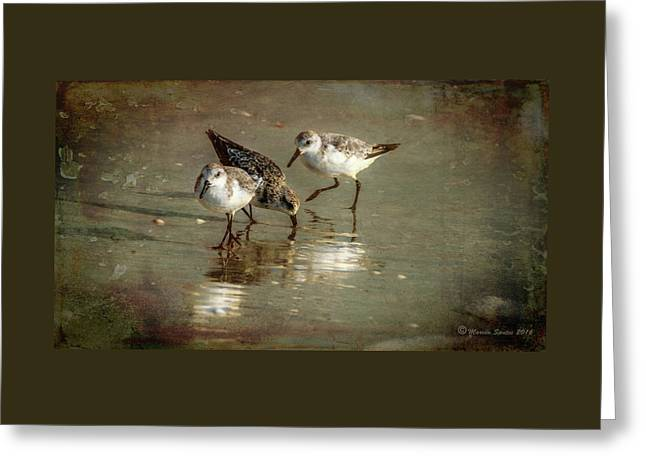 Three Together Greeting Card by Marvin Spates