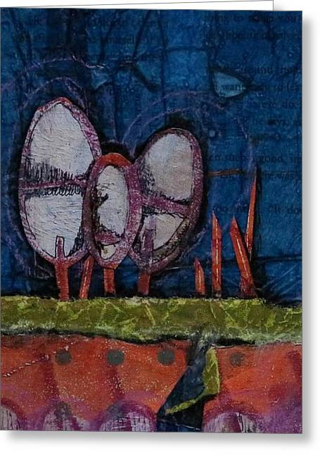 Three Trees Greeting Card by Laura Lein-Svencner