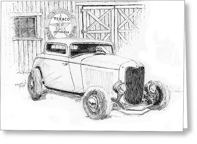 Three Window Coupe Greeting Card by David King