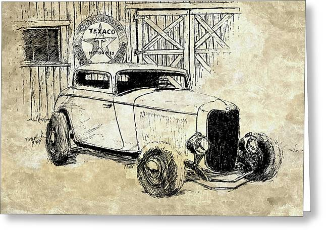 Three Window Coupe Mixed Greeting Card