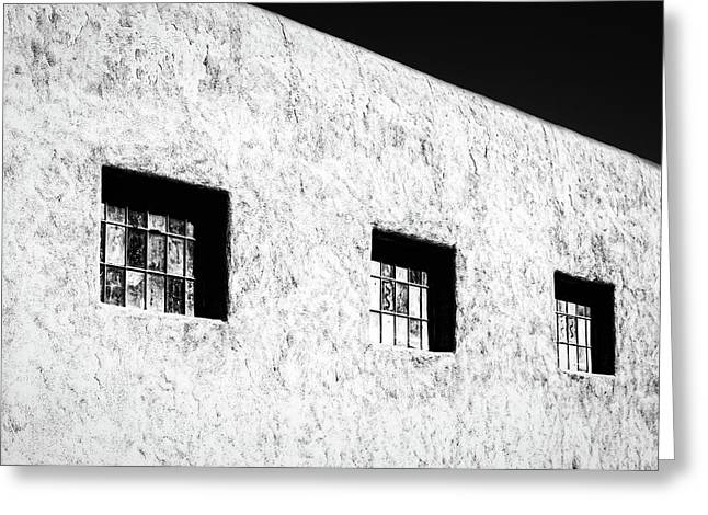 Three Windows In Taos #2 Greeting Card