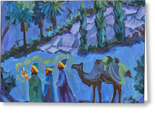 Three Wise Men Greeting Card by Diane McClary