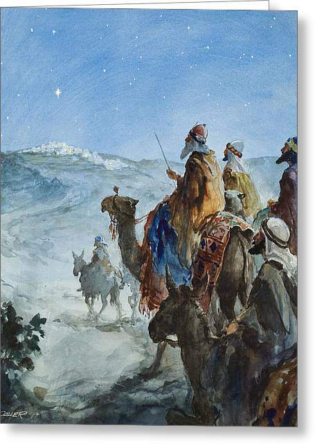 Three Wise Men Greeting Card by Henry Collier