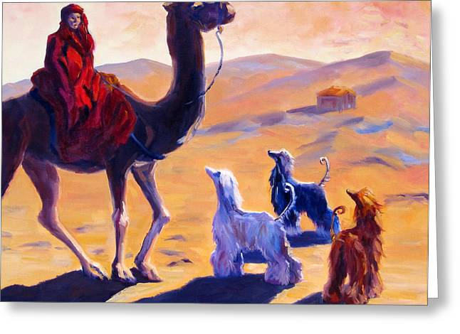 Sight Hound Greeting Cards - Three Wise Men Greeting Card by Terry  Chacon
