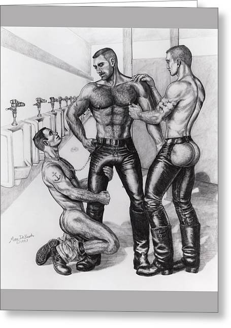 Threeway In Tearoom Greeting Card