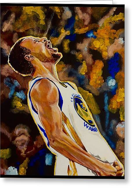 Greeting Card featuring the painting Thrill Of Victory by Joel Tesch