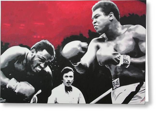 Thrilla In Manila Greeting Card