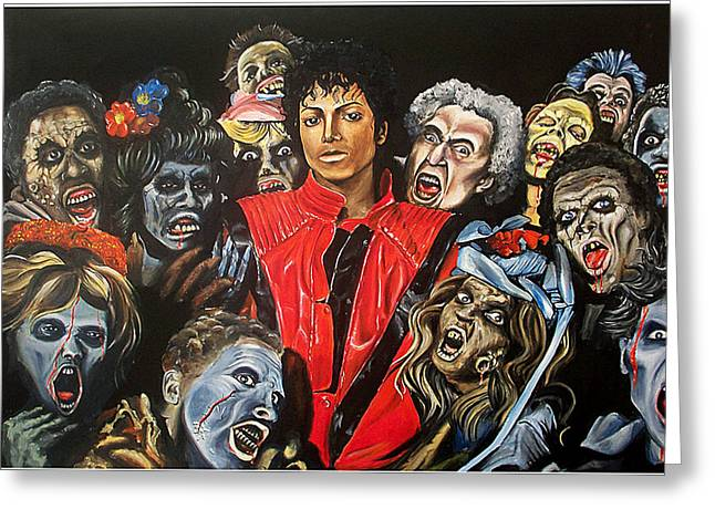 Thriller Greeting Card by Jeremy Worst