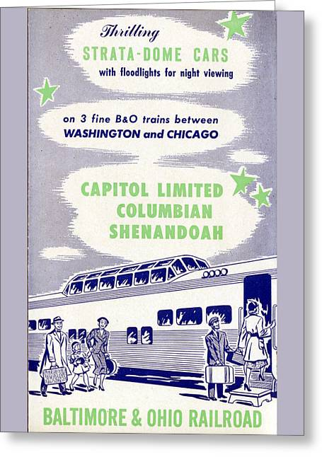 Thrilling Strata-dome Cars Greeting Card