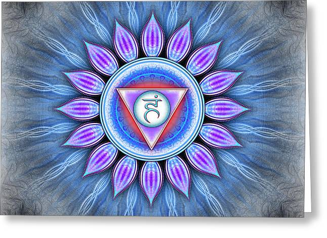 Throat Chakra - Series 4 Greeting Card