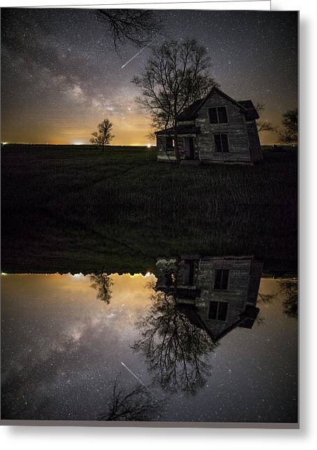 Greeting Card featuring the photograph Through A Mirror Darkly  by Aaron J Groen