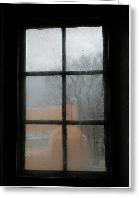 Greeting Card featuring the photograph Through A Museum Window by Marilyn Hunt