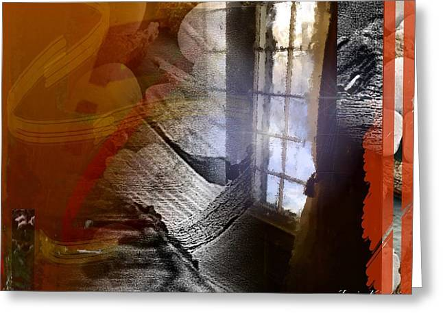 Through A Window 4 Greeting Card by Janis Kirstein